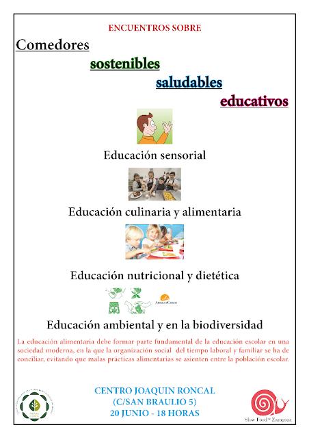 ENCUENTRO SOBRE COMEDORES SOSTENIBLES EDUCATIVOS
