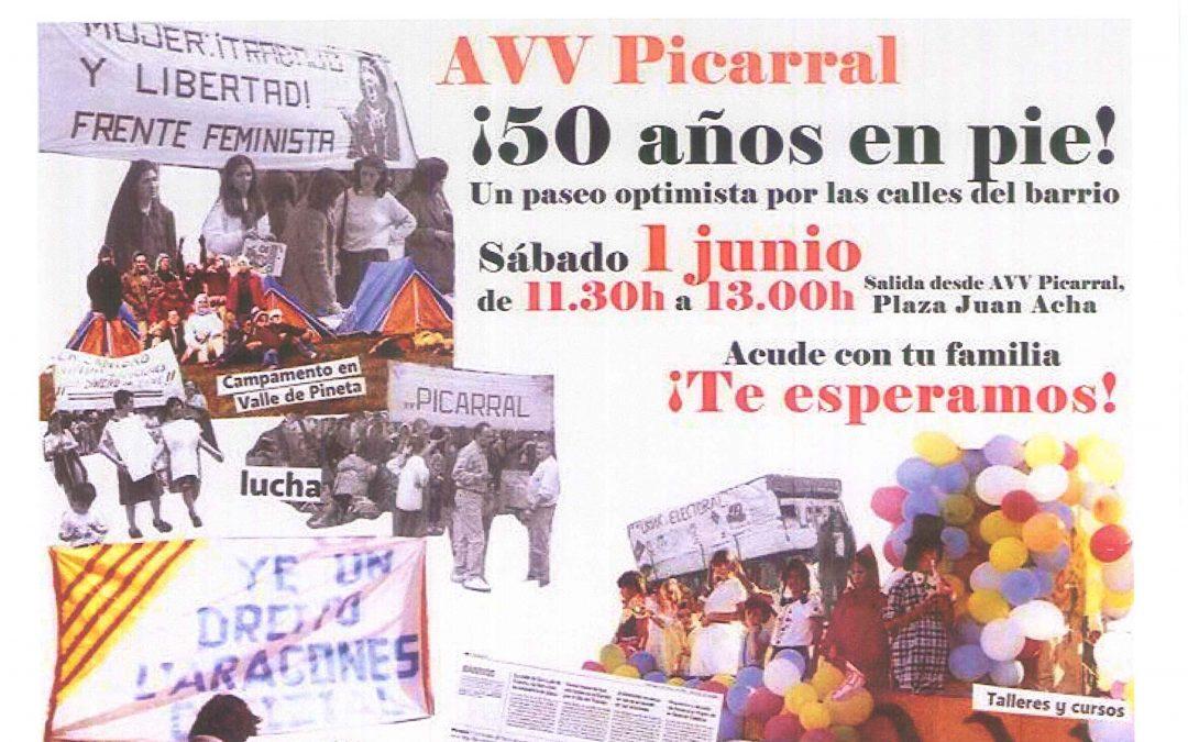 50 años Asociación vecinos Picarral – Salvador Allende