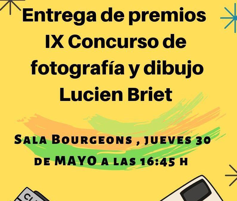 ENTREGA PREMIOS IX CONCURSO FOTOGRAFÍA Y DIBUJO este jueves 30 de mayo a las 16:45 h