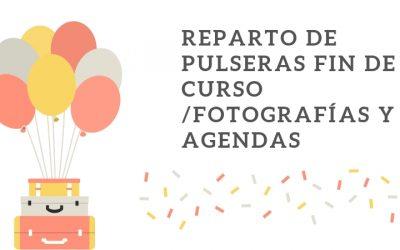 Fotografías, agendas curso 19/20 y pulseras para la fiesta fin de curso