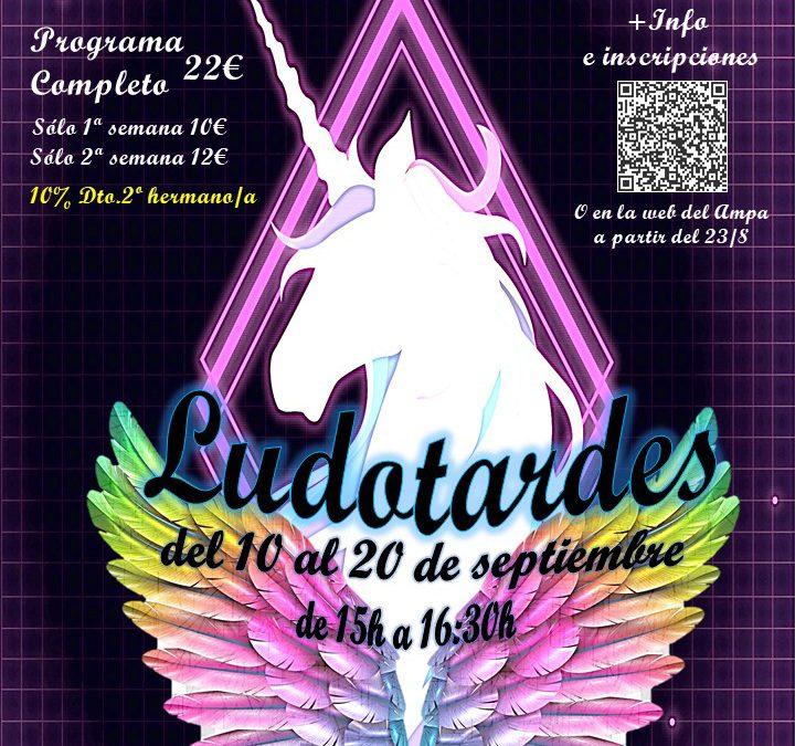 LUDOTARDES DEL 10 AL 20 DE SEPTIEMBRE