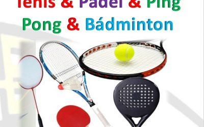 Extraescolar padel,ping pong, tenis , bádminton